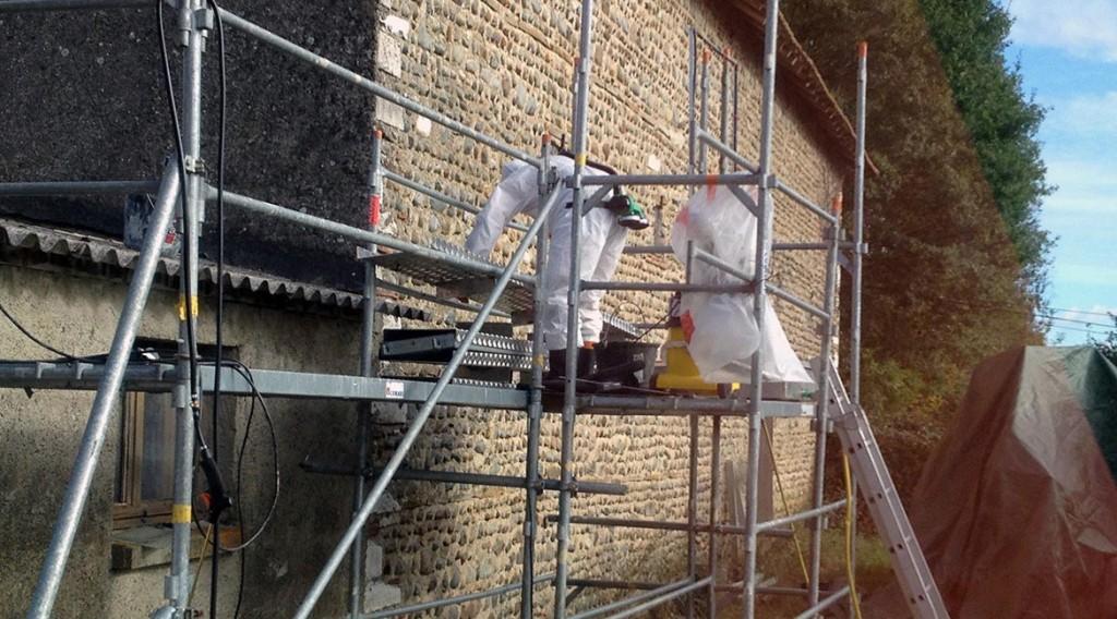 Zingueur desiamantage toiture buros d p t amiante sauvage - Cout desamiantage toiture ...